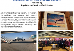 INAUGURATION OF  FIRST A350 XWB AIRCRAFT Handled by Royal Airport Services (Pvt.) Limited