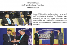 First Annual Staff Motivational Function Multan Station
