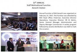 10th ANNUAL Staff Motivational Function Karachi Station