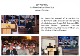 10th ANNUAL STAFF MOTIVATIONAL FUNCTION LAHORE STATION